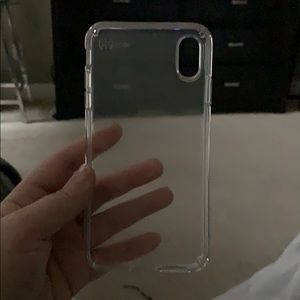 iPhone Xs Max clear speck case.